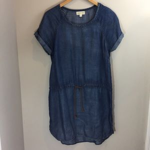 Anthropologie Cloth & Stone chambray dress